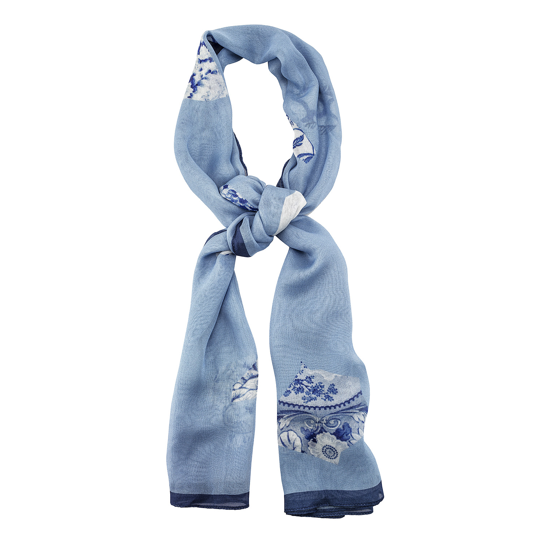 blue white scarf