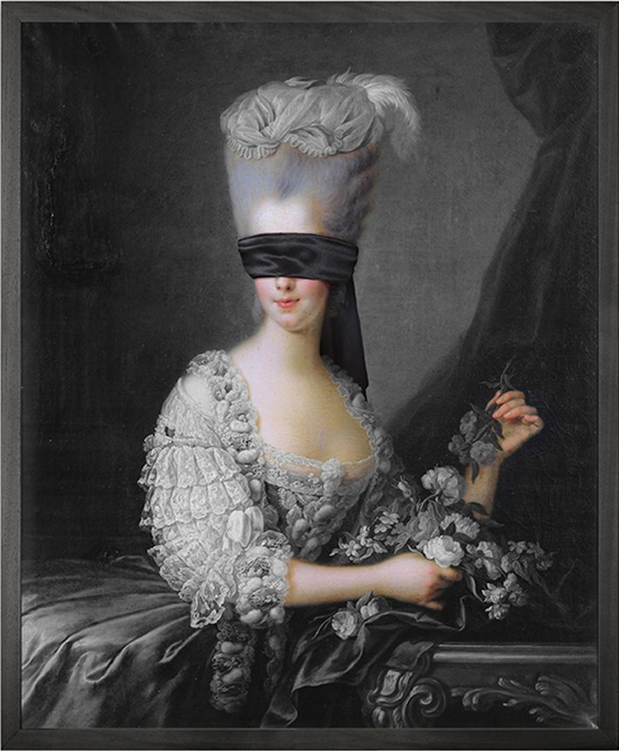 Blindfold 2 Framed Printed Canvas