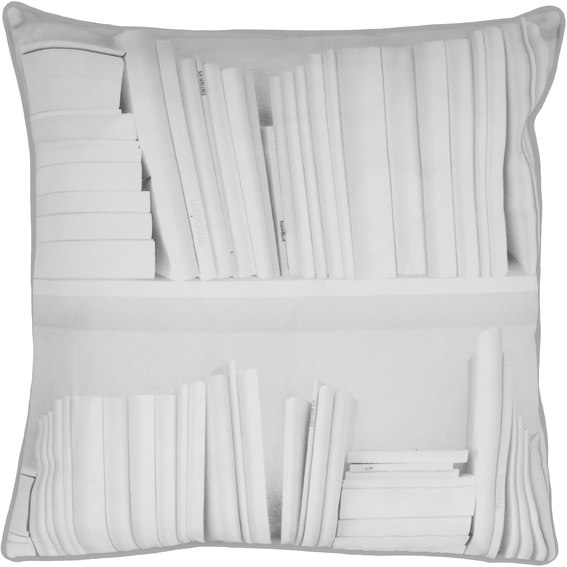 White Bookshelf cushion