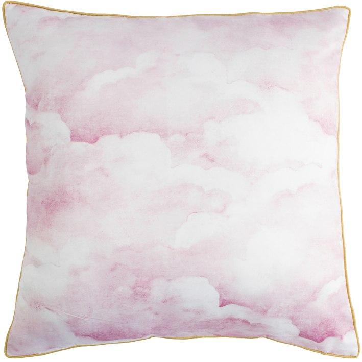 Dusty pink clouds Cushion
