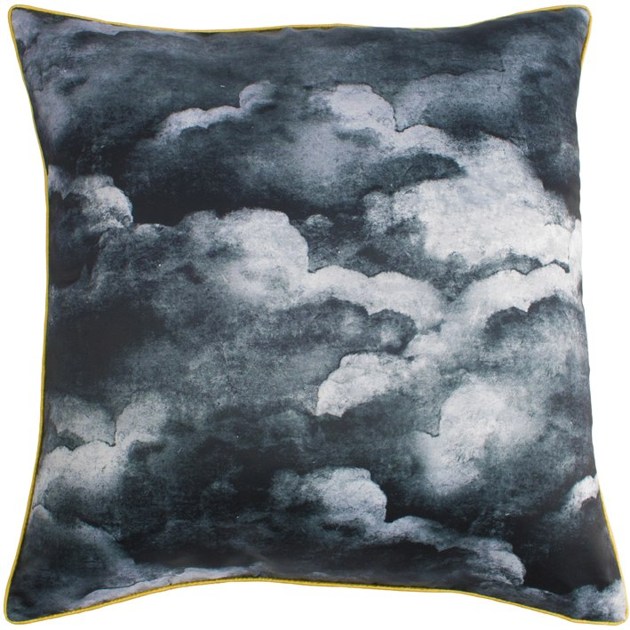 Night black clouds Cushion