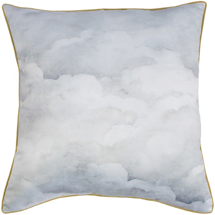 Pale Grey Clouds cushion