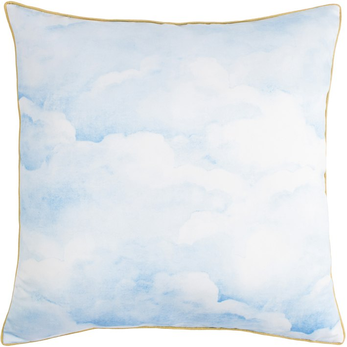 Smokey Blue clouds Cushion