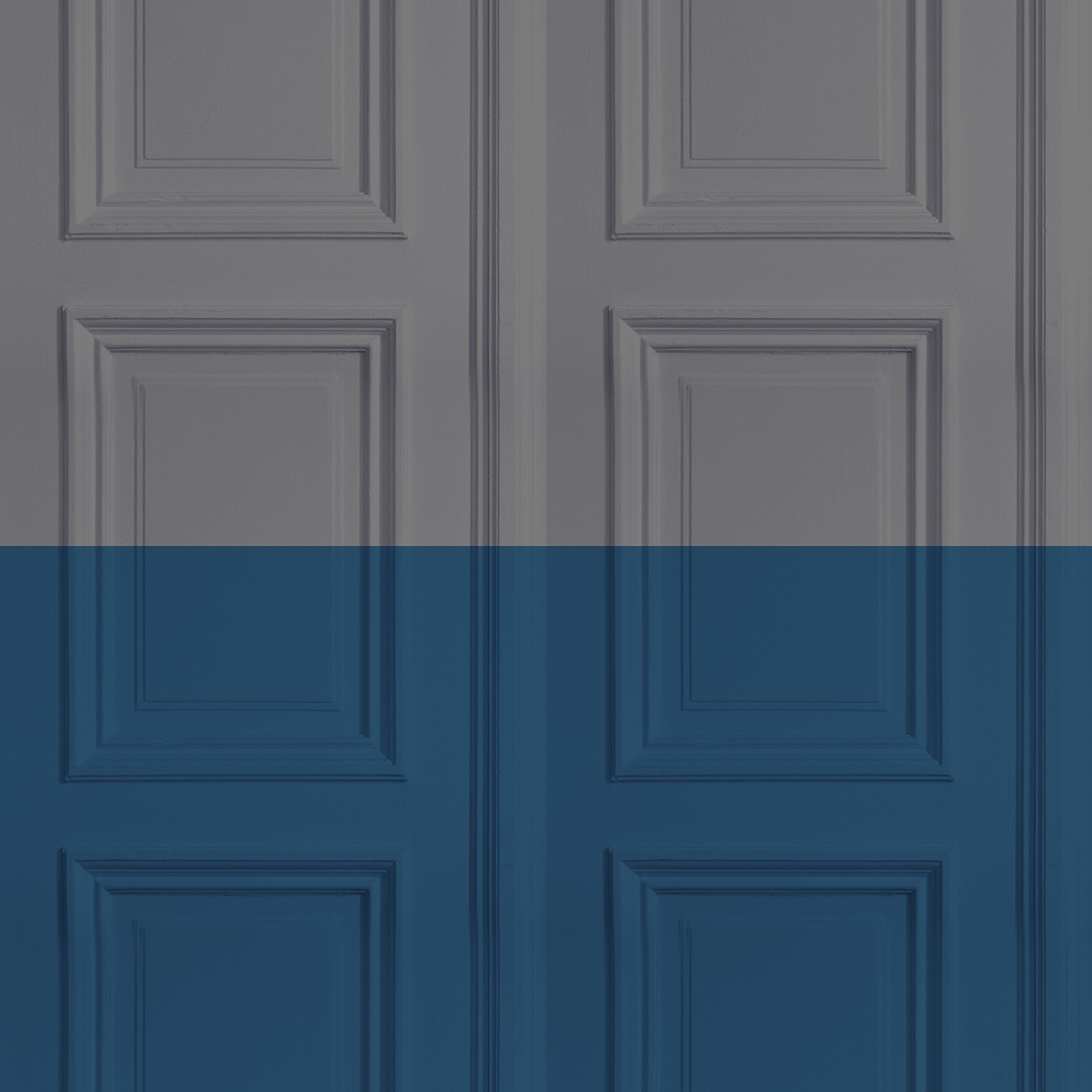 Grey Marine Panelling Wallpaper