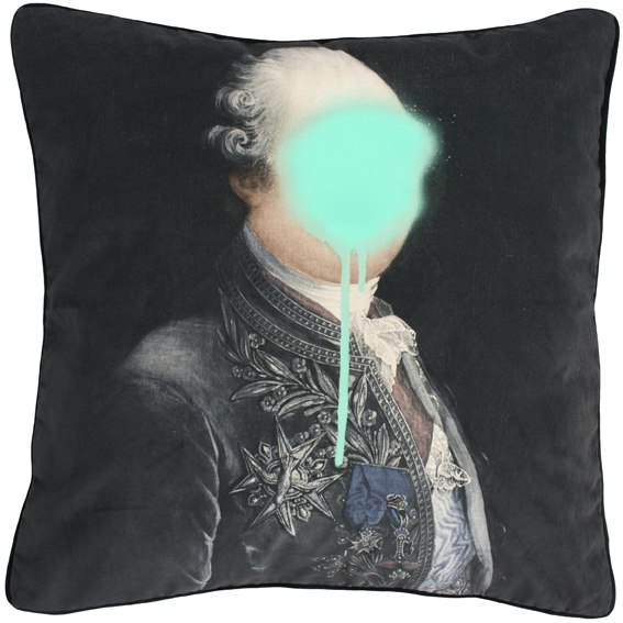Monsieur Mint cushion