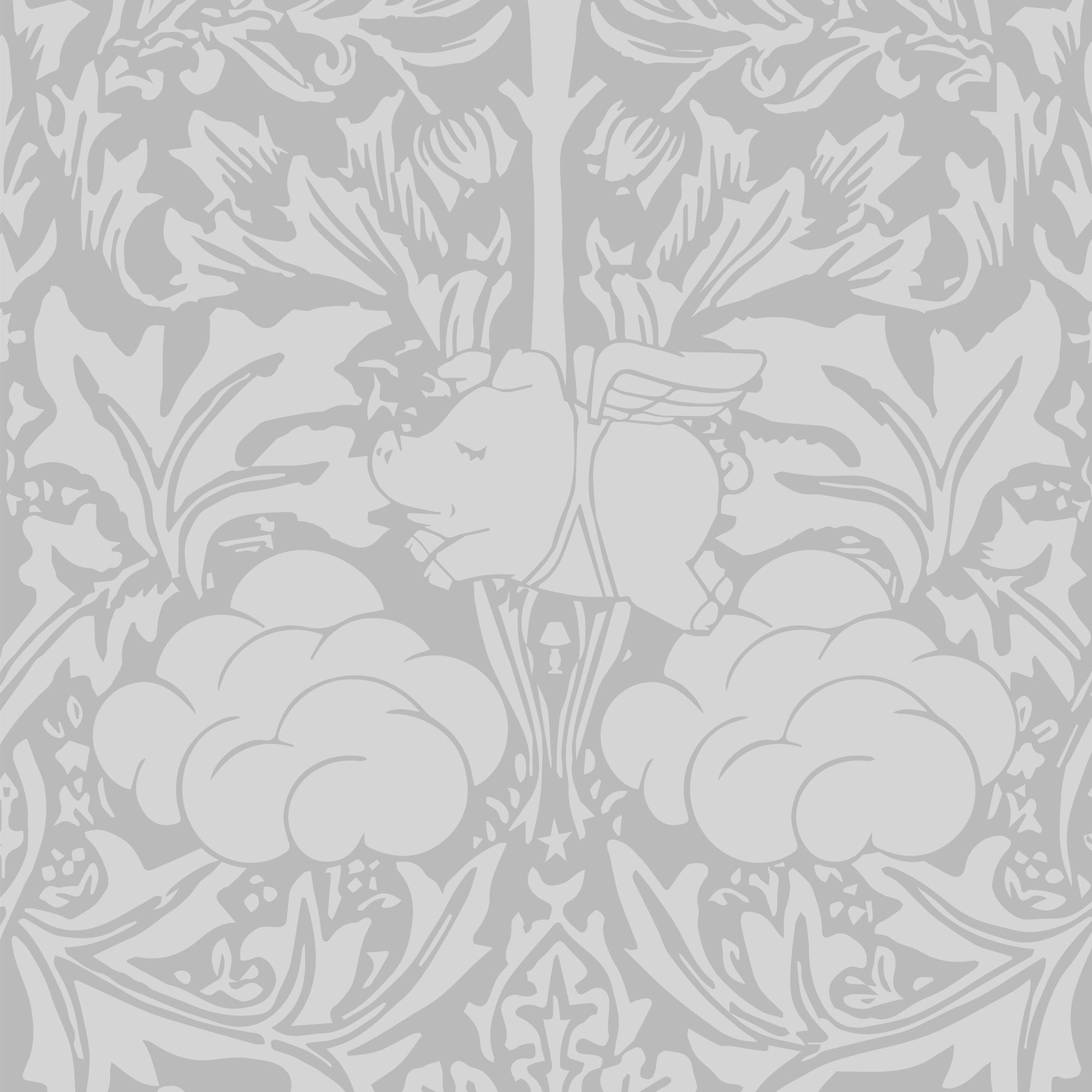 Morris Dream Wallpaper - Grey