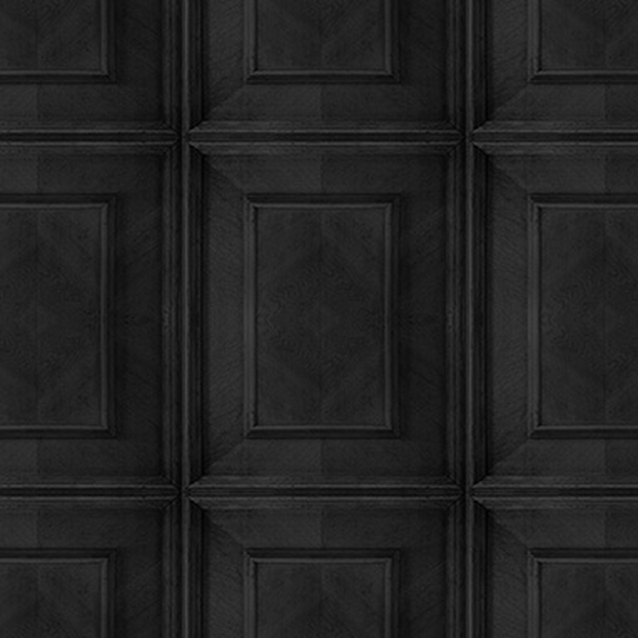 Charcoal Dutch Inlay Panelling Wallpaper