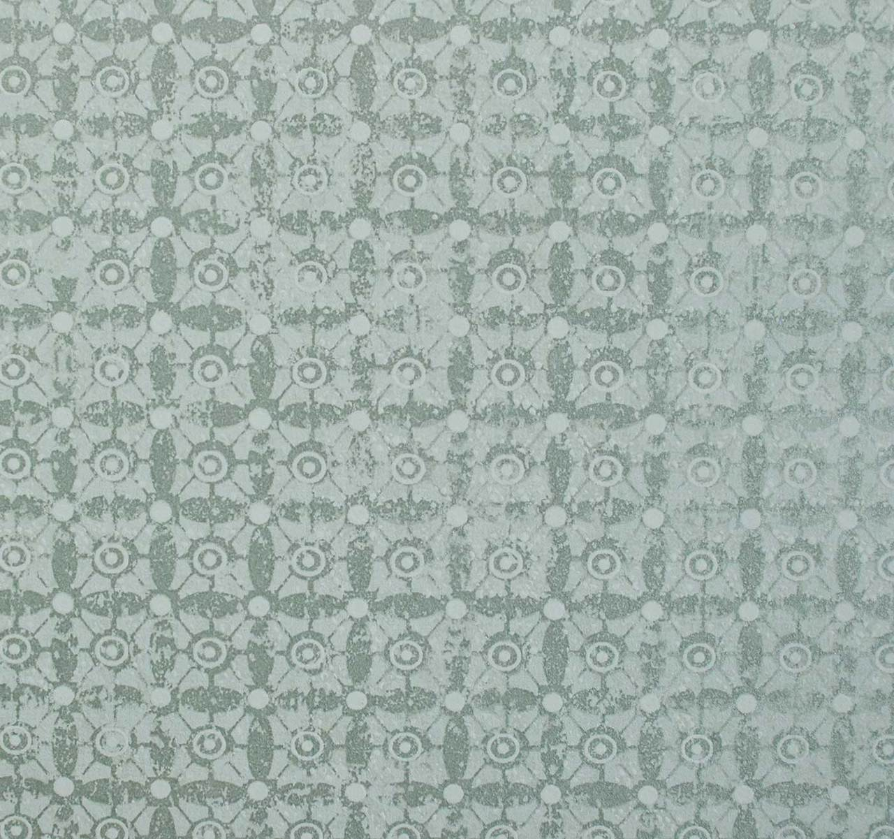 Classico Tile Pattern wallpaper - Silver Green