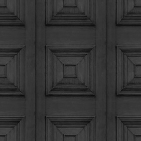 Charcoal Victorian Panelling Wallpaper