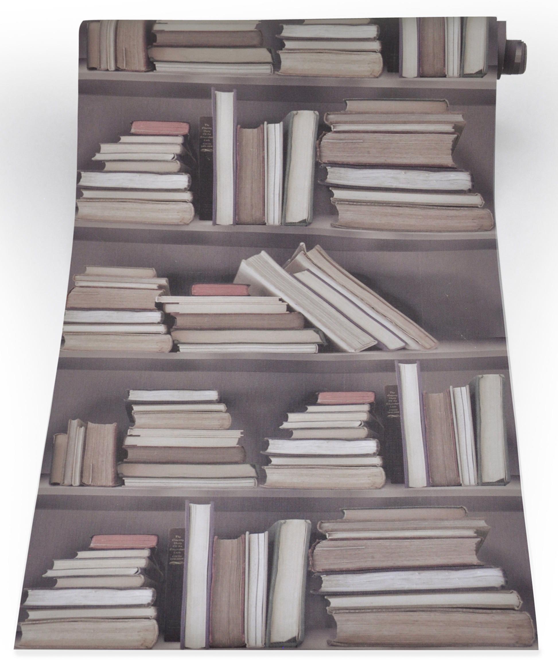 Vintage Bookshelf Wallpaper